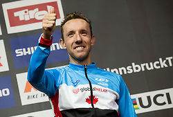 Podium /  Michael Woods of Canada Bronze Medal / Celebration / during the Men Elite Road Race a 258.5km Race from Kufstein to Innsbruck 582m at the 91st UCI Road World Championships 2018 / RR / RWC / on September 30, 2018 in Innsbruck, Austria. Photo by Vid Ponikvar / Sportida