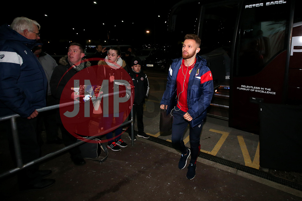 Matty Taylor of Bristol City arrives at Bramall Lane for the fixture against Sheffield United - Mandatory by-line: Robbie Stephenson/JMP - 08/12/2017 - FOOTBALL - Bramall Lane - Sheffield, England - Sheffield United v Bristol City - Sky Bet Championship