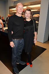 CAMILLA RUTHERFORD and DOMINIC BURNS at the launch of the new Frette store at 43 South Audley Street, London on 6th October 2016.