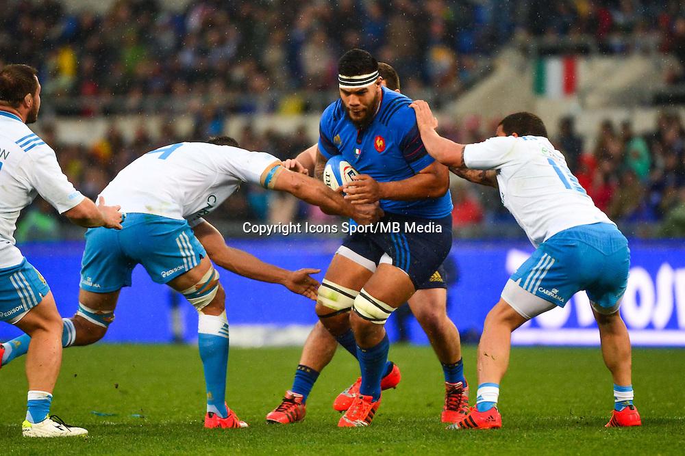 Romain TAOFIFENUA - 15.03.2015 - Rugby - Italie / France - Tournoi des VI Nations -Rome<br /> Photo : David Winter / Icon Sport