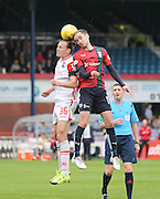 Dundee&rsquo;s Nick Ross and Ross County&rsquo;s Jackson Irvine - Dundee v Ross County - Ladbrokes Premiership at Dens Park<br /> <br />  <br />  - &copy; David Young - www.davidyoungphoto.co.uk - email: davidyoungphoto@gmail.com