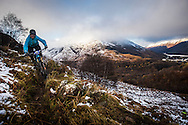 Nick Barber tackles stage one of the Kinlochleven Enduro.