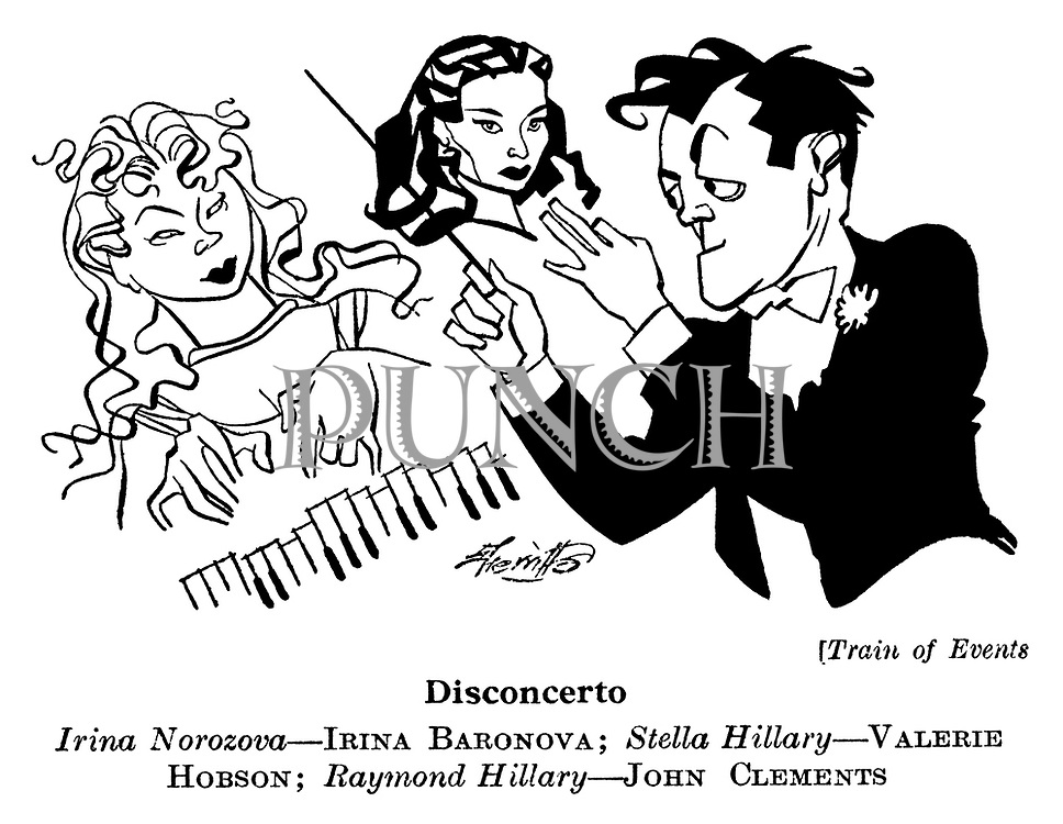 Train of Events ; Irina Baronova , Valerie Hobson and John Clements..........