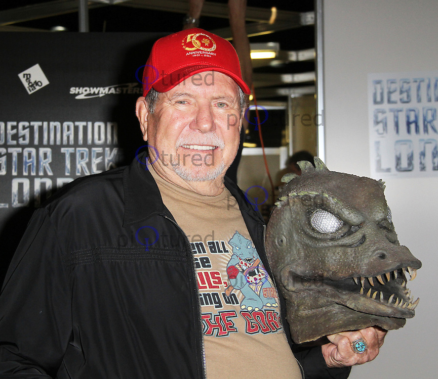 LONDON - OCTOBER 19: Bobby Clark; The Gorn attended 'Destination Star Trek London' at the ExCel Centre London, UK, October 19, 2012. (Photo by Richard Goldschmidt)
