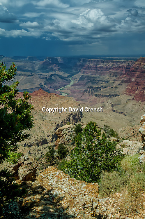 Grand Canyon as seen from Desert View vistas on the east end of the National Park.