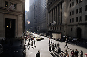 Wall street and stock exchange 1990s