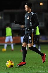 Ben White of Newport County warms up- Mandatory by-line: Nizaam Jones/JMP- 23/01/2018 - FOOTBALL - Rodney Parade - Newport, Wales- Newport County v Morecambe - Sky Bet League Two