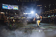NEW ORLEANS, LA - NOVEMBER 8:  Marques Colton #12 of the New Orleans Saints runs onto the field before a game against the Tennessee Titans at Mercedes-Benz Superdome on November 8, 2015 in New Orleans, Louisiana.  The Titans defeated the Saints in overtime 34-28.  (Photo by Wesley Hitt/Getty Images) *** Local Caption *** Marques Colton