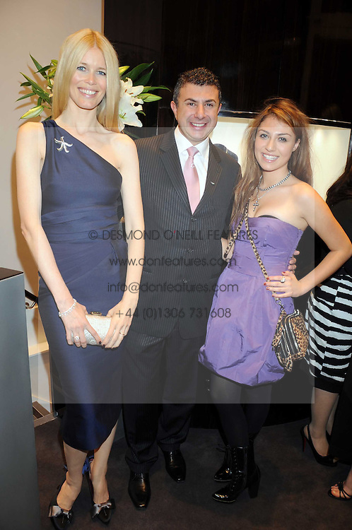 Australian award winning jewellery designer John Calleija and special guest Claudia Schiffer hosted the launch party of Calleija's new London store in the Royal Arcade, Old Bond Street, London on 24th June 2008.<br /><br />Picture shows:- CLAUDIA SCHIFFER, JOHN CALLEIJA and GABRIELLA CILMI.