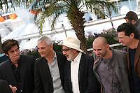 Benicio Del Toro, Laurent Cantet, Elia Suleiman, Pablo Trapero, Julio Medem  at the 7 Dias En La Habana photocall at the 65th Cannes Film Festival France. Wednesday 23rd May 2012 in Cannes Film Festival, France.