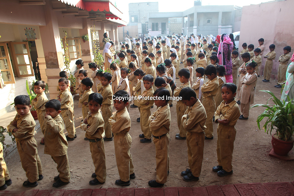 primary school in a slum in karachi, pakistan