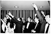 Toasting Margaret Thatcher and Ronald Reagan. During drinks after OU Monday club dinner.  Worcester College, Oxford. SUPPLIED FOR ONE-TIME USE ONLY> DO NOT ARCHIVE. ? Copyright Photograph by Dafydd Jones 248 Clapham Rd.  London SW90PZ Tel 020 7820 0771 www.dafjones.com