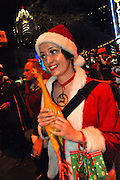 Santa Rampage in Austin Texas, December 13, 2008.  Santa Rampage is an annual Christmas event in Austin featuring masses of costumed Santa Clauses and other exotic costumes.