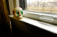 Skull made of sugar celebrating Dia De los Muertos