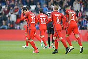 Edinson Roberto Paulo Cavani Gomez (psg) (El Matador) (El Botija) (Florestan) scored a goal from the ball of Goncalo Guedes (PSG), Maxwell Scherrer Cabelino Andrade (psg), Marco Verratti (psg), Marcos Aoas Correa dit Marquinhos (PSG) during the French championship Ligue 1 football match between Paris Saint-Germain (PSG) and Bastia on May 6, 2017 at Parc des Princes Stadium in Paris, France - Photo Stephane Allaman / ProSportsImages / DPPI