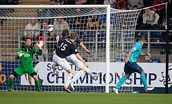 Falkirk's keeper Michael McGovern saves another Dunfermline attack.<br /> Falkirk 2 v 1 Dunfermline, Scottish League Cup, 27/8/2013, at The Falkirk Stadium.<br /> &copy;Michael Schofield.