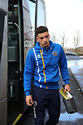 Shrewsbury Town midfielder Ben Godfrey (4) arriving at Glanford Park for the EFL Sky Bet League 1 match between Scunthorpe United and Shrewsbury Town at Glanford Park, Scunthorpe, England on 17 March 2018. Picture by Mick Atkins.