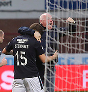 Greg Stewart is congratulated by a fan after opening the scoring - Dundee v Dundee United - SPFL Premiership at Dens Park<br /> <br />  - &copy; David Young - www.davidyoungphoto.co.uk - email: davidyoungphoto@gmail.com