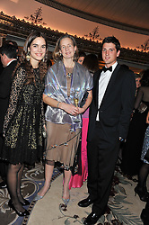 Left to right, CAROLINA GAWRONSKI, MRS NICHOLAS SOAMES and JAKE WARREN at the 21st Cartier Racing Awards held at The Dorchester, Park Lane, London on 15th November 2011.