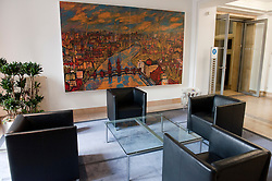Interior of historic Finance Ministry or Bundesministerium der Finanzen in Mitte Berlin Germany