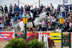 HASSMANN Felix (GER), Cayenne WZ<br /> Mannheim - Maimarkt Turnier 2019<br /> -DIE BADENIA- <br /> Großer Preis der MVV<br /> Int. Springprüfung mit Stechen (1.60 m) - Stechen<br /> 07. Mai 2019<br /> © www.sportfotos-lafrentz.de/Stefan Lafrentz