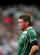 A dejected Ronan O'Gara comes to terms with the fact that Ireland are going home. Ireland v Argentina, Parc Des Princes, Paris, France, 30th September 2007. Rugby World Cup 2007.