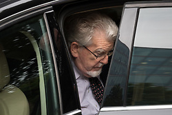 © Licensed to London News Pictures. 22/05/2017. LONDON, UK.  ROLF HARRIS arrives at Southwark Crown Court in London. The entertainer and musician, 87, denies four counts of indecent assault relating to three teenagers who allege that he molested them in the 1970s and 1980s. Photo credit: Vickie Flores/LNP
