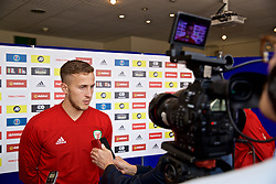 WREXHAM, WALES - Wednesday, June 5, 2019: Wales' Will Vaulks speaks to the media at Glyndwr University ahead of the UEFA Euro 2020 Qualifying Group E match between Croatia and Wales. (Pic by David Rawcliffe/Propaganda)