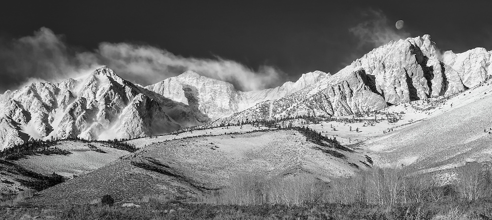 Mount Humphreys and the Eastern Sierra from the Buttermilks, near Bishop, California.