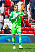 Craig MacGillivray (#1) of Portsmouth FC during the EFL Sky Bet League 1 match between Sunderland and Portsmouth at the Stadium Of Light, Sunderland, England on 17 August 2019.