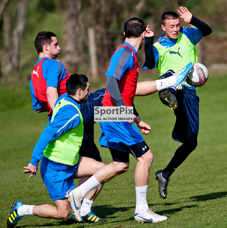 The Clydesdale Bank Scottish Premier League, Season 2011/12.Dunfermline Athletic Football Club - Training session..22-03-12...Joe Cardle in this mornings Dunfermline Athletic training session. ..At Pitreavie- Dunfermline Academy of sport, Dunfermline...Picture, Craig Brown ..Thursday 22nd March 2012.