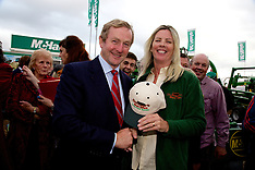 Taoiseach Enda Kenny at Comfort Slat Mat Stand at The National Ploughing Championships 2014.