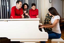 Family of Joze Potrebujes at their home, member of Slovenian band Cuki, on January 9, 2019 in Dobrova, Slovenia. Photo by Vid Ponikvar / Sportida