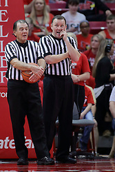 22 February 2017:  Tom O'Neill and Brad Gaston during a College MVC (Missouri Valley conference) mens basketball game between the Southern Illinois Salukis and Illinois State Redbirds in  Redbird Arena, Normal IL