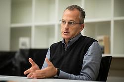 Portrait of Steve Telzerow, Evangelical pastor, in Ljubljana, Slovenia. Photo by Vid Ponikvar / Sportida