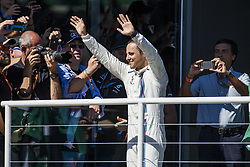 November 12, 2017 - Sao Paulo, Sao Paulo, Brazil - Nov, 2017 - Sao Paulo, Sao Paulo, Brazil - In the photo the Brazilian pilot FELIPE MASSA / Williams says goodbye to the fans since this will be his last season in the competition. German driver SEBASTIAN VETTEL/Scuderia Ferrari won the Brazilian Formula One Grand Prix on Sunday at the Interlagos autodromo in Sao Paulo. VALTTERI BOTTAS/Mercedes AMG was second place, followed by filipinos KIMI RAIKKONEN/Scuderia Ferrari. (Credit Image: © Marcelo Chello via ZUMA Wire)