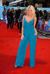 Image ©Licensed to i-Images Picture Agency. 12/08/2014. London, United Kingdom. <br /> Danielle Armstromng attends the What If - UK film premiere. Leicester Square. Picture by Chris Joseph / i-Images