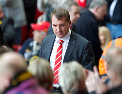 15.04.2013, Anfield Road, Liverpool, ENG, PL, Liverpool FC, 24. Jahrestag der Hillsborough Katastrophe, im Bild Liverpool's manager Brendan Rodgers during the 24th Anniversary Hillsborough Service at Anfield, Liverpool, United Kingdom on 2013/04/15. EXPA Pictures © 2013, PhotoCredit: EXPA/ Propagandaphoto/ David Rawcliffe..***** ATTENTION - OUT OF ENG, GBR, UK *****