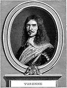 Henri de la Tour d'Auvergne, Vicomte de Turenne  (1611-75). Protestant soldier. Marshal of France. Thirty Years War. After an engraving by Nanteuil.