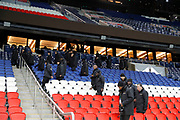 Security agents checked the stands at the end of the game during the French Championship Ligue 1 football match between Paris Saint-Germain and ESTAC Troyes on November 29, 2017 at Parc des Princes stadium in Paris, France - Photo Stephane Allaman / ProSportsImages / DPPI