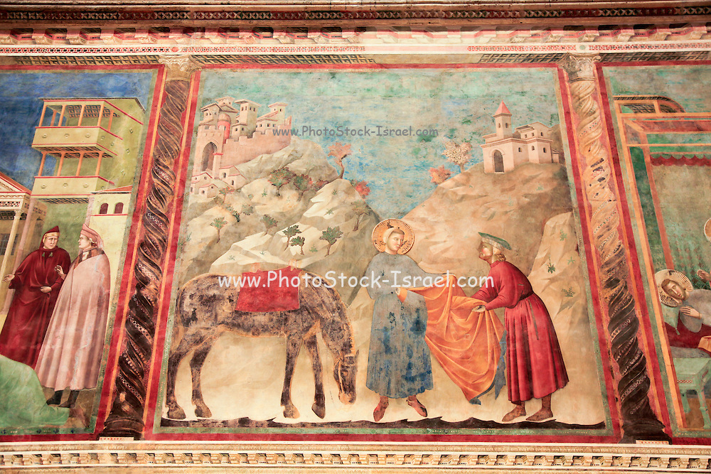 Cathedral of Saint Francis in Assisi, interior detail of the frescos
