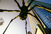Maman (Spider sculpture) and the Mori Tower, Roppongi Hills, Tokyo, Japan