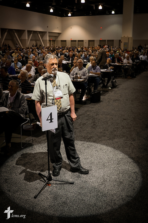 Dr. E. Christian Kopff, associate professor of Classics at the University of Colorado, Boulder, speaks on Wednesday, July 13, 2016, at the 66th Regular Convention of The Lutheran Church–Missouri Synod, in Milwaukee. LCMS/Michael Schuermann
