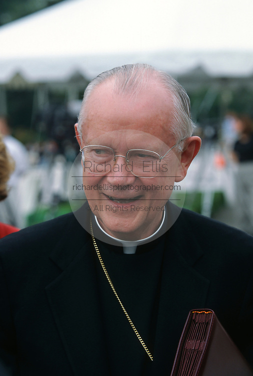 Catholic James Hickey, Archbishop of Washington attends a pro-life rally September 12, 1996 in Washington, DC.