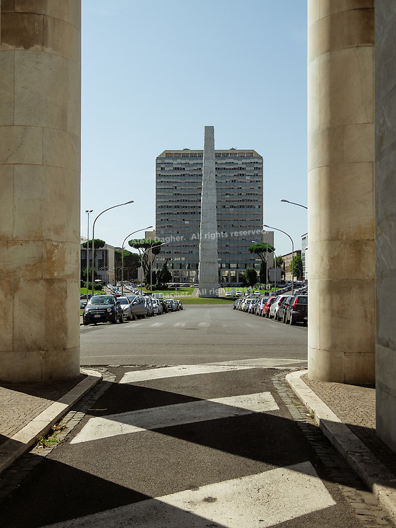 Guglielmo Marconi Obelisk - EUR District, Rome, Italy 2014