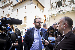 June 26, 2017 - L'Aquila, Italy - New Mayor of L'Aquila Pierluigi Biondi attends the visits of Giorgia Meloni in L'Aquila, Italy, on June 26, 2017. In L'Aquila, a city in central Italy that has been governed by the center-left Democratic Party (PD) for the last decade, center-right candidate Pierluigi Biondi received the backing of 53.5 percent of the local vote, leaving his left-wing rival Americo di Benedetto to pick up the pieces with just 46.5 percent. (Credit Image: © Manuel Romano/NurPhoto via ZUMA Press)