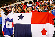 July 18 2009: Panama fans hold a flag during the game between USA and Panama. The United States defeated Panama 2-1 in added extra time in a CONCACAF Gold Cup quarter-final match at Lincoln Financial Field in Philadelphia, Pennsylvania.