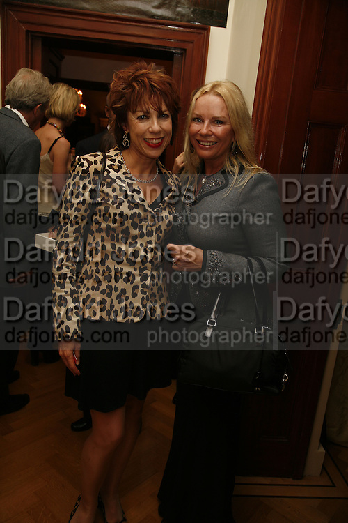 Kathy Lette and Pamela Stephenson , PARTY AFTER THE OPENING OF THE ANISH KAPOOR EXHIBITION AT THE LISSON GALLERY. Duchess Palace, 16 Mansfield St. London. W1. 10 October 2006. -DO NOT ARCHIVE-© Copyright Photograph by Dafydd Jones 66 Stockwell Park Rd. London SW9 0DA Tel 020 7733 0108 www.dafjones.com