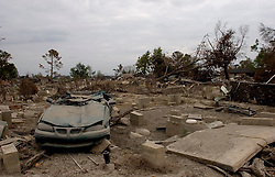04 November, 2005.  New Orleans, Louisiana. Post Katrina.<br /> The devastated lower 9th ward in New Orleans, devastated by hurricane Katrina when a barge broke through the levee flooding the area. <br /> Photo; Charlie Varley/varleypix.com