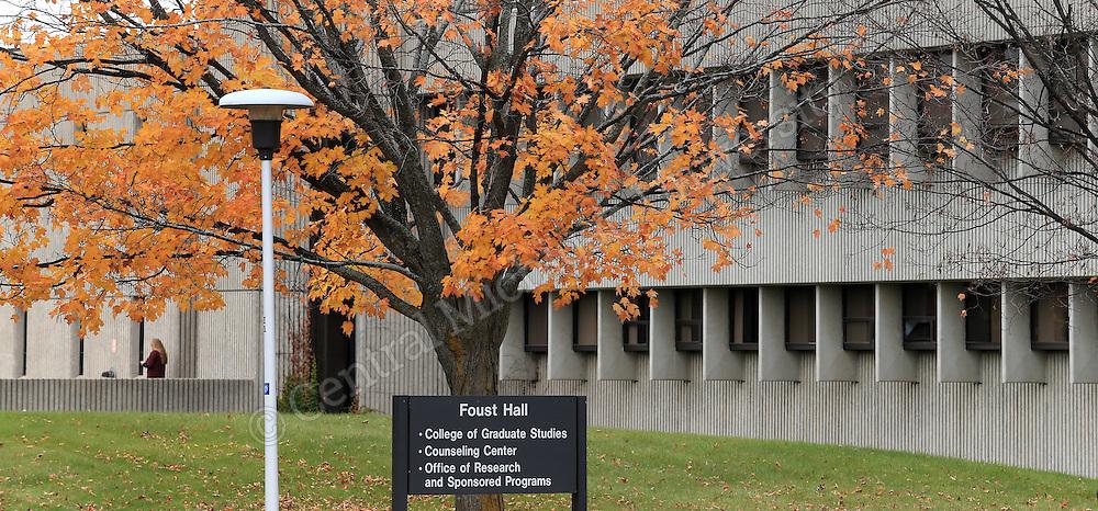 Faust Hall scenics. Central Michigan University photo by Steve Jessmore